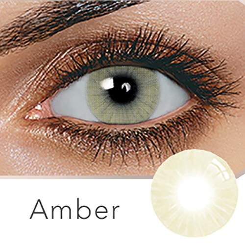 Multi-Color Cosplay Party Cute Charm and Attractive Daily Fashion Eyes Lenses Eyes Makeup Eye Shadow(A Pair) (Amber-Yellow) ()