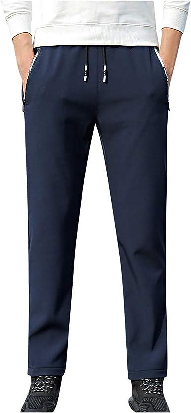 beautyjourney Pantalones de chándal Ajustados para Hombre ...