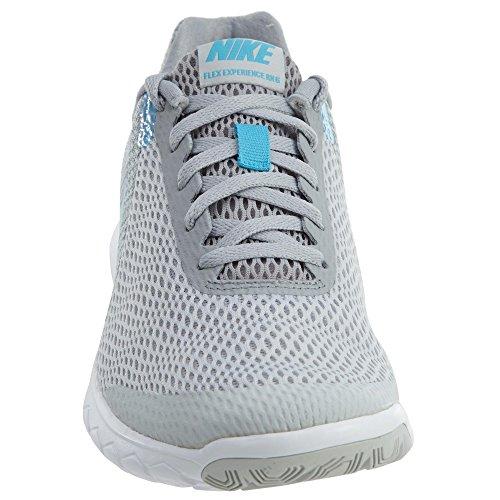 Nike Frauen Flex Experience RN 6 Laufschuh Pure Platinum / Blau Fury