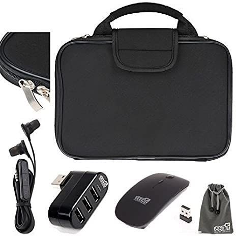 EEEKit 4 in 1 Kit for Microsoft Surface Pro 4/Pro 3, Carry Case Briefcase  Cover Travel Bag + 3 Port Hub + 2 4G Wireless Optical Mouse + 5 mm in-Ear