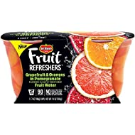 Del Monte Fruit Refreshers Snack Cups, Grapefruit & Oranges in Pomegranate Fruit Water, 2 Count per pack, 14 Ounce