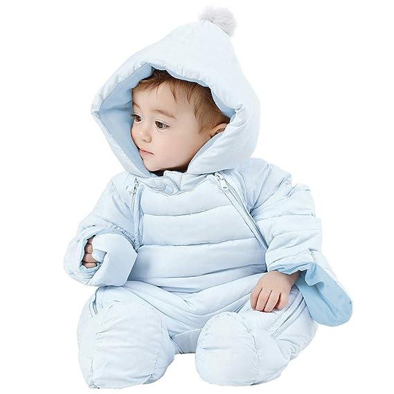 WYTbaby Traje de Nieve Bebé Mameluco con Capucha Mono de ...