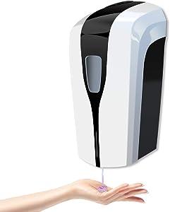 AFMAT Automatic Soap Dispenser, Hands Free Soap Dispenser, Touchless Soap Dispenser Wall Mount, 33.8 oz/1000ml Refillable Soap Dispenser with Adjustable Soap Dispensing Volume for Liquid Sanitizer