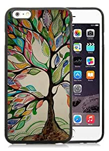 High Quality iPhone 6 Plus 5.5 Inch TPU Case ,Cool And Fantastic Designed Case With Tree Of Life Black iPhone 6 Plus Cover