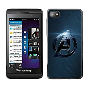 Impact Case Cover with Art Pattern Designs FOR Blackberry Z10 A Superhero Team Betty shop