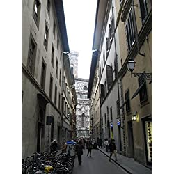 Italy Florence Street Church Architecture Poster Print 24x 36 Print 24x 36