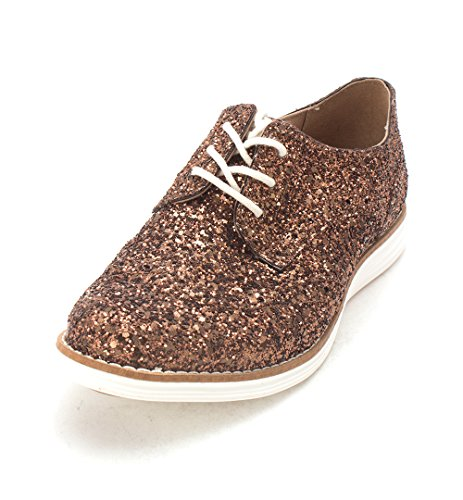 Sneakers Womens Cole Lace Nadeensam Haan up Top Bronze Low Fashion Glitter PxxUwa4q8