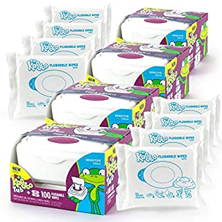 Kandoo Sensitive Tub + 100 Wipes - 4 Pack (4 Tubs, 8 Refills)