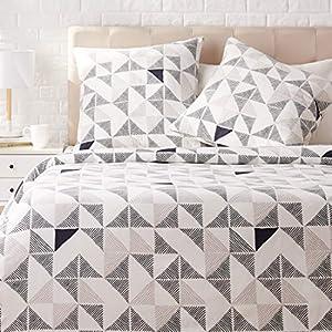 AmazonBasics - Juego de ropa de cama con funda de edredón, de satén, 155 x 200 cm / 80 x 80 cm x 2, Multicolor (Diamond Fusion)