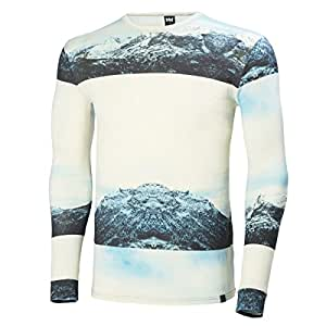 Helly Hansen Wool Graphic Shirt - Long-Sleeve - Men's Arctic Grey Print, XL