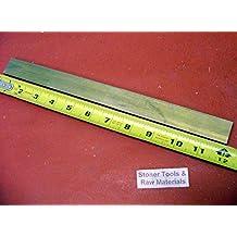 "1//2/"" x 2/"" C360 BRASS FLAT BAR 20/"" long Solid .500/"" Plate Mill Stock H02"