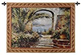 "Cheap Fine Art Tapestries ""Rose Arch Wall Tapestry"