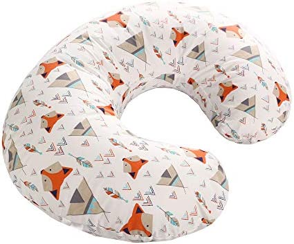 Volwco Stretchy Nursing Pillow Cover Ultra Soft 100/% Natural Cotton Breastfeeding Pillow Slipcover for Nursing Mom/'s Unisex Boys Girls Fits All Nursing Pillows and Positioners