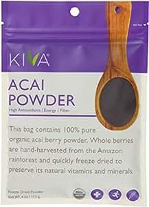 Kiva Organic Acai Berry Powder - Non-GMO, RAW, Vegan (4.0-Ounce)