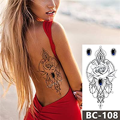 adgkitb 3pcs Tatuaje en el Pecho Tatuaje Impermeable Temporal ...