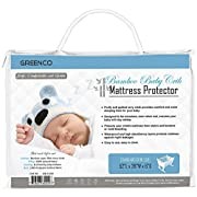 Greenco Ultra Soft Quilted Terry Cotton Baby Crib Mattress Protector
