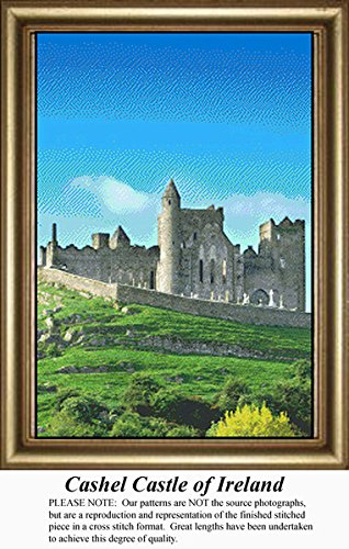 Cashel Castle of Ireland, Irish Counted Cross Stitch Pattern (Pattern Only, You Provide the Floss and Fabric)