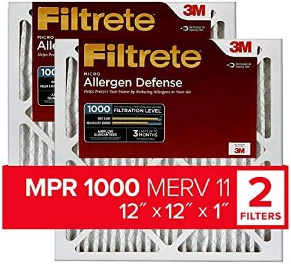 Filtrete MPR 1000Micro Allergen Defense AC Ofen Air Filter, 12x 12x 1, 2er Pack