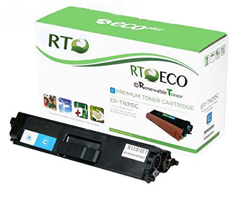 Renewable Toner © TN315 | TN-315 (TN-315C/ TN315c) Compatible Cyan Laser Toner Cartridge (High Yield: 3.5k pages) for Brother LaserJet Printers: HL-4150CDN, HL-4570CDW, HL-4570CDWT, MFC-9460CDN, MFC-9560CDW, MFC-9970CDW