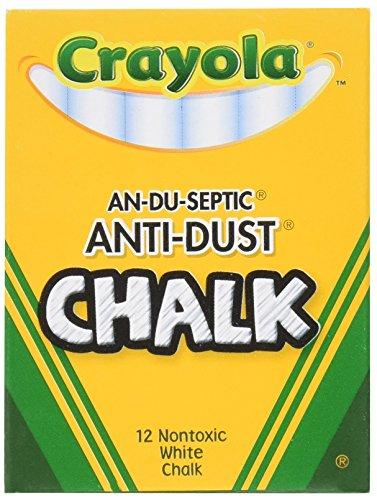 Crayola Anti Dust Chalk White Sticks