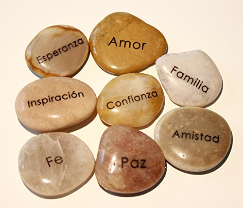 En Español, Engraved Inspirational Word Stones (8 different (Inspirational Word)