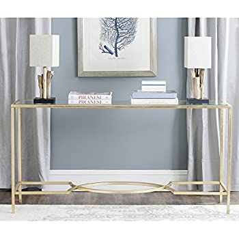 this item safavieh home collection inga gold console table