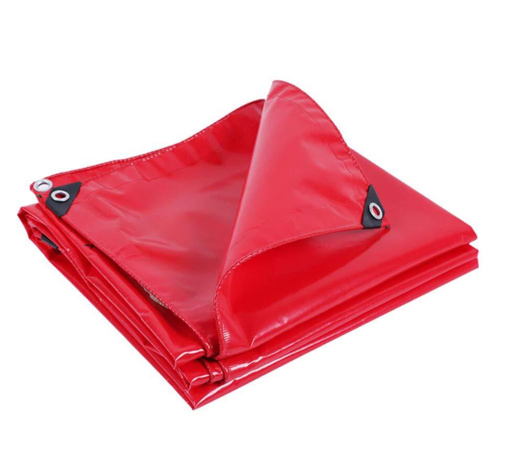 HSBAIS 頑丈な防水ターポリン、多目的多防水シートグランドシートはアンチエイジング防水シートをカバー,Red_4x4m B07PCJ4164 Red 4x4m