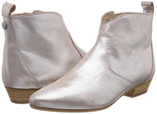 O'polo Heel Bootie Botas Plateado 165 Mujer Flat Para Plisadas silver Marc 80114076001100 6qRd6