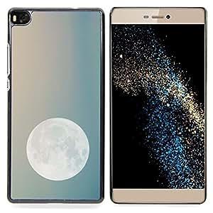 "For Huawei Ascend P8 (Not for P8 Lite) Case , Noche de Luna Cielo azul del trullo Planetas Tierra"" - Diseño Patrón Teléfono Caso Cubierta Case Bumper Duro Protección Case Cover Funda"