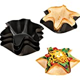 """Miles Kimball Nonstick Taco Fluted Dishes - Set Of 4 - 2 1/2""""H x 6 1/4""""dia"""