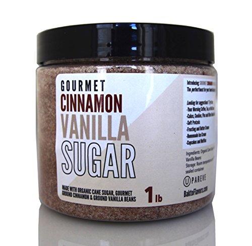 Gourmet Cinnamon Vanilla Sugar - 1 lb Jar
