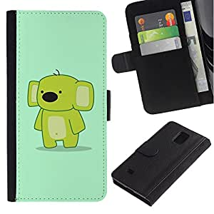 iBinBang / Flip Funda de Cuero Case Cover - Cute Funny friendly Koala - Samsung Galaxy Note 4 SM-N910