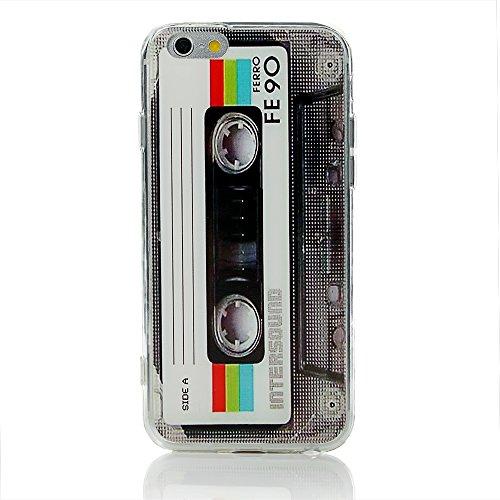 Case Cassette Cover - iPhone 6 Plus / 6s Plus Case Heavy Duty Durable TPU Bumper Back Cover Cassette