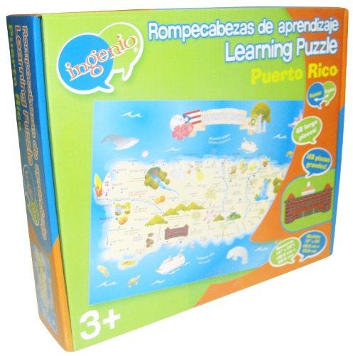 Ingenio Puerto Rico Map Bilingual Learning Puzzle ()