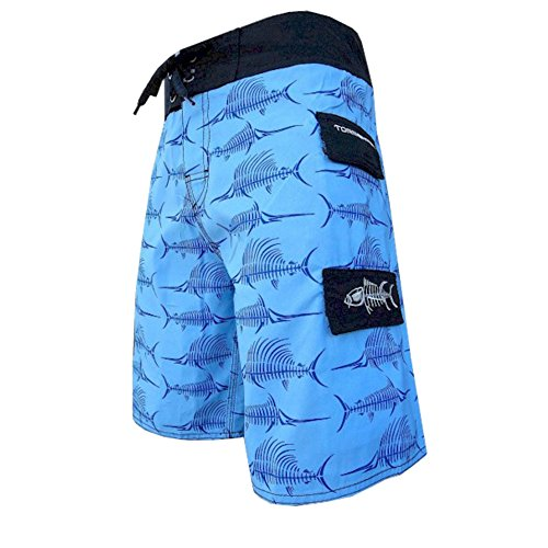 Tormenter Billfish Bones 2 Pocket 38 Blue (Fishing Swim Trunks)