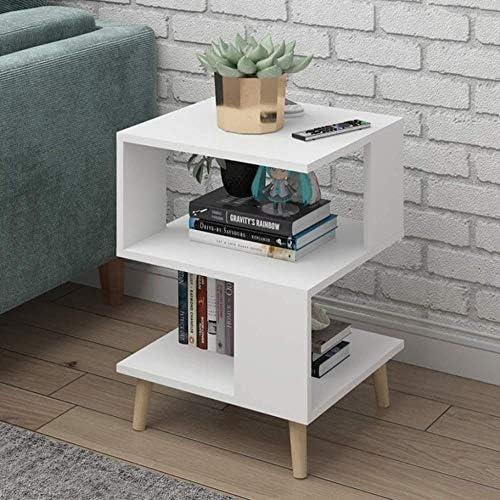 安定した ベッドサイドサイドテーブルウッドベースのパネルベッドサイドテーブルは簡単で、耐久性と実用的なシェイプ ファッション (Color : C)