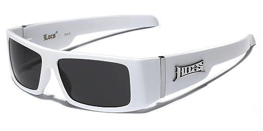 52163e8927 Amazon.com  OG Locs Men s Square Frame Gangster Shades Dark Lens Sunglasses  - Black Skull  Clothing