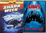 Jaws 3-Movie Collection & Shark Week The Movie DVD Horror Movie Set