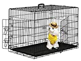 "BestPet 36"" Wire Metal Folding Pet Dog Cage Crate Kennel W/2-doors w/ABS Plastic Removable Tray"