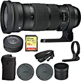 Sigma NEW SIGMA 120-300mm F2.8 DG OS HSM Telephoto Zoom Lens for Canon (137-101) with Sigma USB Dock for Canon Lens & Lexar 32GB Professional 1000x SDHC Class 10 UHS-II Memory Card