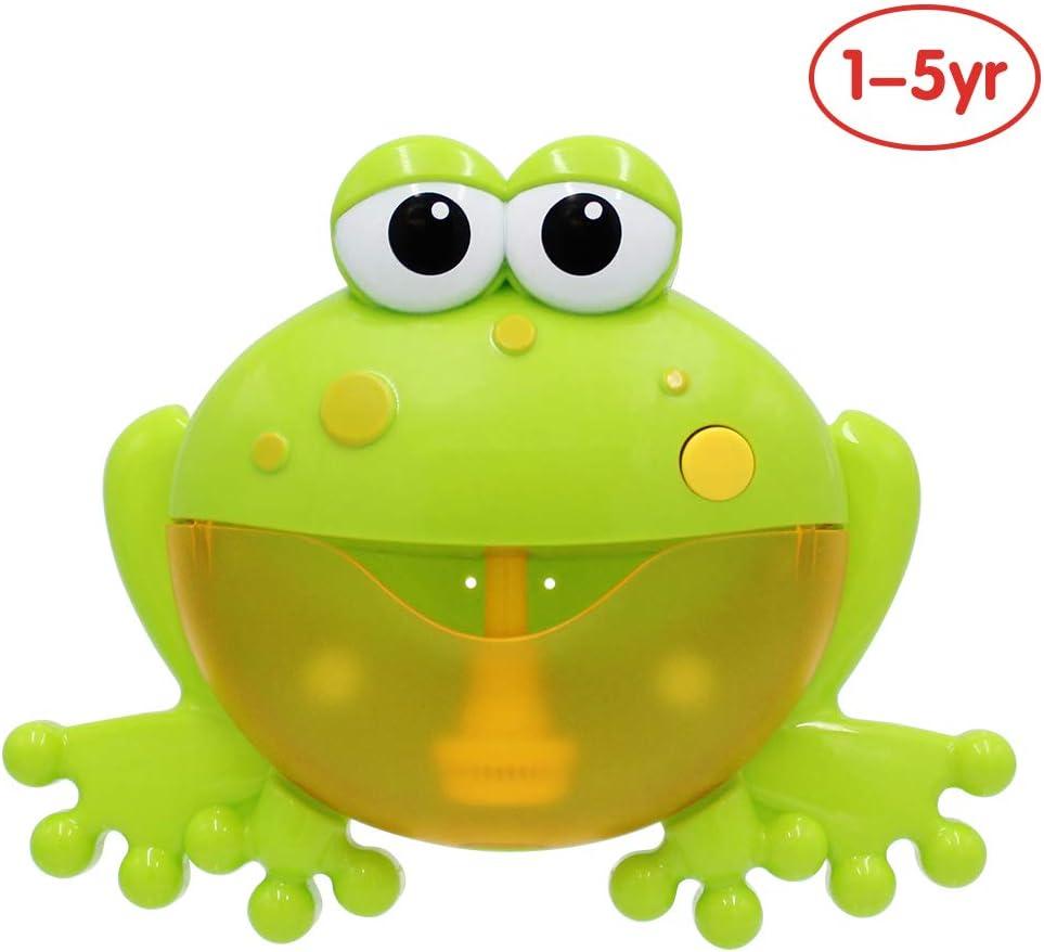 ANIKI TOYS Bebé Máquina de soplado de Burbujas de música, Juguete de baño Infantil Automático Burbuja Fabricante - Froggie