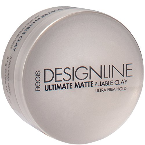 Regis DESIGNLINE Ultimate Matte Pliable Clay, 57g, 2 oz - designed for serious texture, movement and definition for all hair styles. Provides a gentle, flexible hold. LADOVE