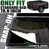 Topline Autopart Snap-On Tonneau Cover 99-07 Chevy Silverado/Gmc Sierra Fleetside 6.5' Short Bed by Topline_autopart