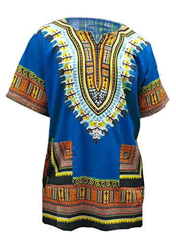 Blue African Print Dashiki Shirt from S to 7XL Plus Size by Dupsie's (Image #1)