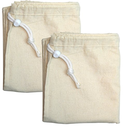 Simple Houseware 2 Pack - Extra Large Natural Cotton Laundry Bag, Beige (28'' x 36'') by Simple Houseware (Image #1)