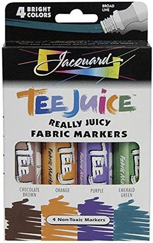 Violet Jacquard Fabric (Jacquard Tee Juice Fabric Marker Box Set (Brights))