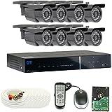 GW Security VD8CH8C26WD 8 Channel 960H DVR 900TVL Surveillance Camera System, Day/Night Vision