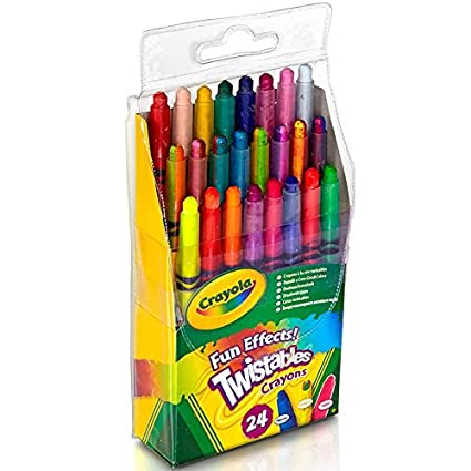 amazon com crayola fun effects mini twistables crayons 24 count 1