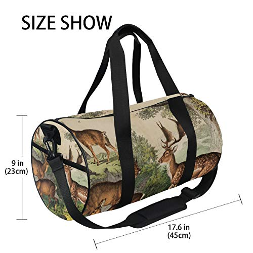 Deer Unisex's Duffel Bag Travel Tote Luggage Bag Gym Sports Luggage Bag by EVERUI (Image #3)