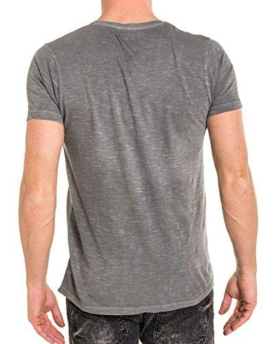Gris People Délavé Rock Imprimé shirt American Tee qzgtt